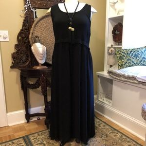 Calvin Klein - NWOT-3X Black Maxi Dress